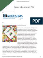 Escuelas Psicológicas, Psicoterapia y PNL
