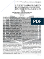 EVALUATING THICKNESS REQUIREMENTS OF FRACTURE SPECIMEN IN PREDICTING CHARACTERISTIC DISTANCE (LC) USING 3D FEM