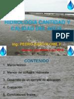 Hidrologia y Calidad de Agua importancia
