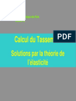 Calcul Du Tassement-solution Par La Theorie de l4elasticite