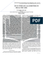 K-MEANS AND D-STREAM ALGORITHM IN HEALTHCARE