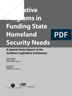 Innovative Programs in Funding State Homeland Security Needs