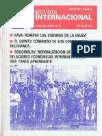 Revista Internacional-Nuestra Época-Edición Chilena Octubre de 1985