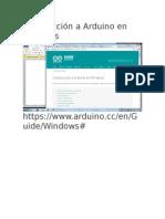 Introducción a Arduino en Windows