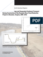 Fluvial geomorphology and suspended-sediment transport during construction of the Roanoke River Flood Reduction Project in Roanoke, Virginia, 2005–2012