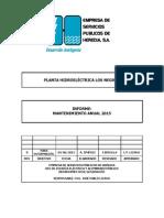 Informe Mantenimiento Anual 2015