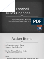 2014 Football Rules Changes Power Point
