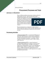 1.4 Procurement Processes and Tools