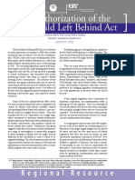 Reauthorization of the No Child Left Behind Act
