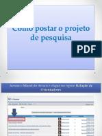 Como Postar o Projeto