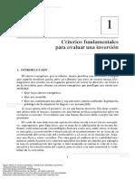 Criterios fundamentales para evaluar una inversión