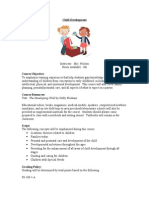 child development syllabus