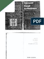 Freud, Sigmund (1982) Lo Siniestro y El Hombre de La Arena, De T.H.hoffmann, Buenos Aires, Ediciones Homo Sapiens
