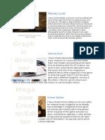 Photographer, Graphic Designer, Editior