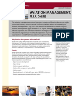 Florida Tech Aviation Management2 Online Fact Sheet