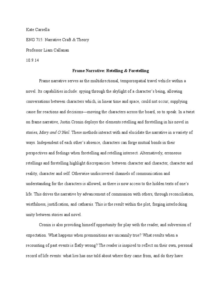 Frame Narrative: Retelling & Foretelling | Narrative | Odyssey
