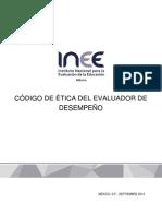 INEE Código de Etica del Evaluador de Desempeño (29 Septiembre 2015)