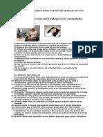 Analisis Ergonomico en El Puesto de Trabajo de Una Secretaria