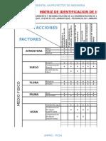 Matrices de Estudio de Impacto Ambiental