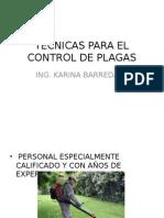 Tecnicas Para El Control de Plagas