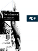 Farías Ignacio - Observando Sistemas. Nuevas Apropiacones y Usos de La Teoría de Niklas Luhmann