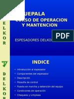 Espesador Delkor Operación y Mantenimiento