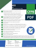 CFPB Cheat Sheet