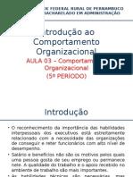 AULA Comportamento Organizacional