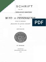 Médailles inédites ou peu connues du Cabinet des médailles de la Haye. I / [H.J. de Dompierre de Chaufepié]