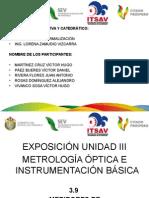 Unidad III Metrología Óptica e Instrumentación Básica