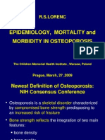 1 Epidemiology Mortality and Morbidity in Osteoporosis