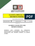 Plan Urbano Delegación Benito Juarez (México DF)