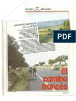 Revista Tráfico nº 15 - Octubre de 1986 - Reportaje Kilómetro a Kilómetro. N-120 Logroño - Burgos. El camino francés
