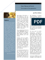 S. Martin de Porrès, les souris et les quenottes