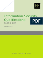 Qualifications ISO27001