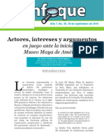 Enfoque 38 Actores, Intereses y Argumentos en Juego en El Museo Maya de América