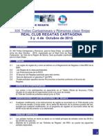 Instrucciones de Regata Cartagineses 2015 SNIPE