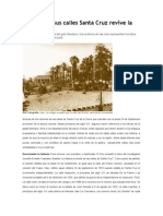 A Través de Sus Calles Santa Cruz Revive La Historia