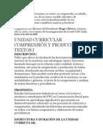 Unidad Curricular Compresion de Texto i