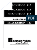 113 Snackshop Vending Manual Automatic Products