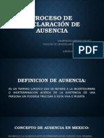 Proceso de Declaración de Ausencia