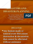 Disasters and Disaster Planning