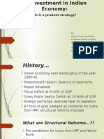 Structural Reforms and Disinvestment in Indian Economy