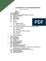 Informe Final de Diseño de La Planta Agroindustrial
