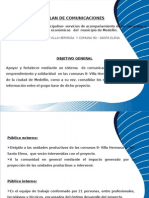 Presentación plan de comunicasiones