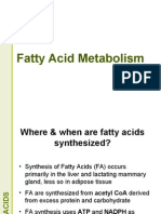 Fatty Acid Metabolism Lecture for 2nd year MBBS by Dr Sadia Haroon