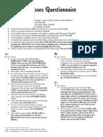 Pathfinder RPG Class Questionnaire