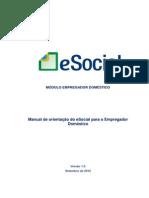 Manual ESocial Empregador Domestico 1 Versao Completo