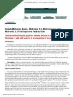 Bosch Motronic Basic Motronic 1.1 1.2 1