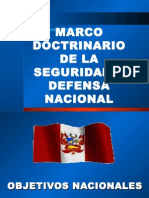 2.- Marco Doctrinario de La Seguridad y Defensa Nacional
